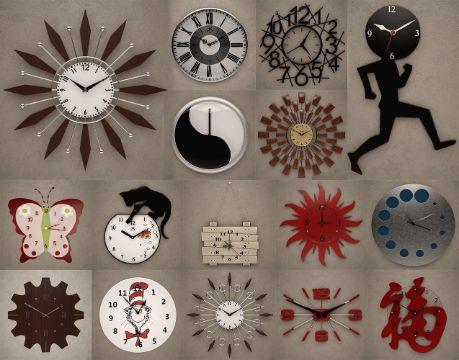 modelos de reloj de pared diversos