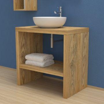 muebles para baño en madera pequeños