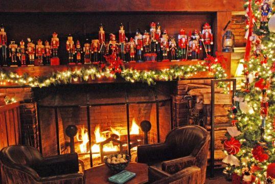 chimeneas navideñas 2019 con luces