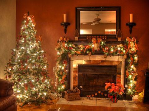 chimeneas navideñas 2019 hermosas