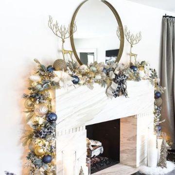 chimeneas navideñas 2019 minimalistas