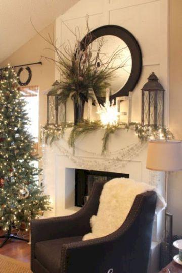 chimeneas navideñas 2019 rusticas