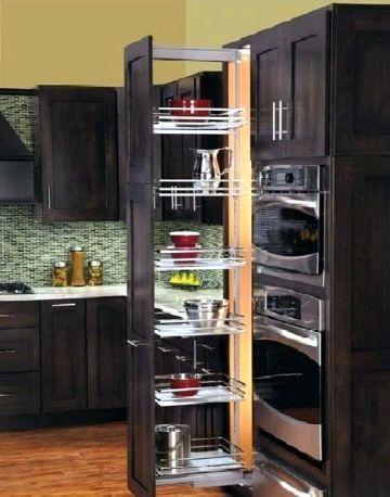 como organizar los muebles de la cocina estantes ocultos