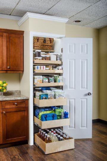 como organizar los muebles de la cocina estantes
