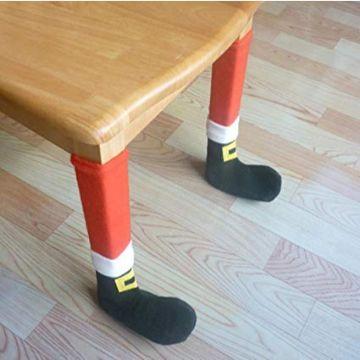 cubre patas de sillas navideñas de santa claus