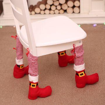 cubre patas de sillas navideñas sencillas