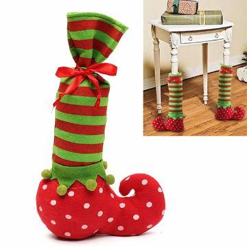 cubre patas de sillas navideñas y para mesas