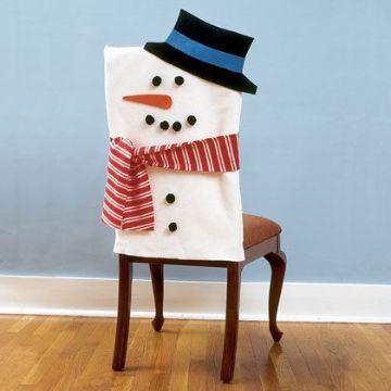 cubresillas de muñeco de nieve con detalles