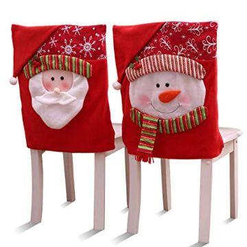 cubresillas de muñeco de nieve para cena navideña