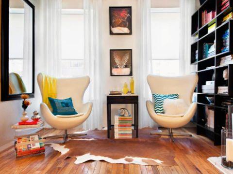 diseño de salas pequeñas sillones inviduales