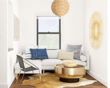 diseño de salas pequeñas tonos claros