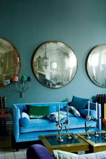 espejos decorativos para sala en conjunto