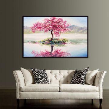 pinturas de arboles en la pared enmarcado