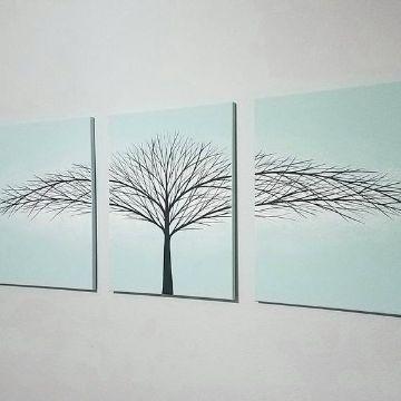pinturas de arboles en la pared modernas