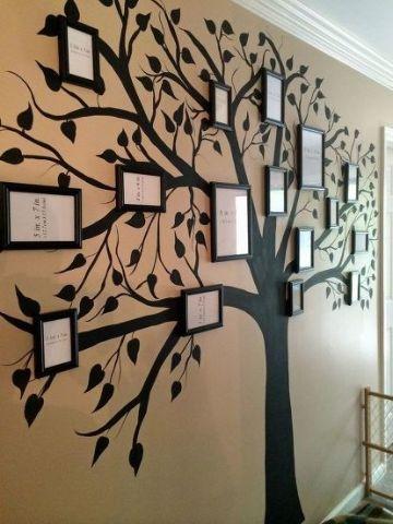 pinturas de arboles en la pared viniles