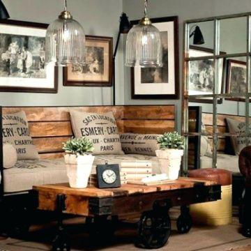 salas de estar rusticas decoradas con madera