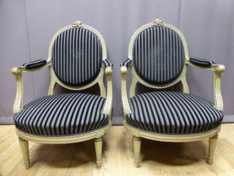 sillones estilo frances luis xvi modernos