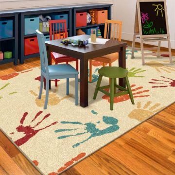 alfombras decoradas para niños para trabajar
