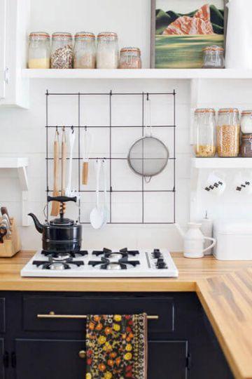 como decorar mi cocina con repisas