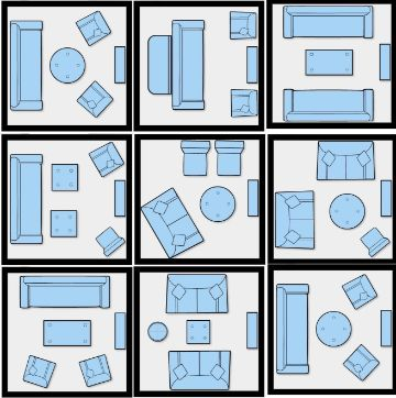 como organizar salas pequeñas esquemas