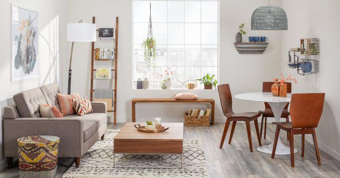 como organizar salas pequeñas modernas