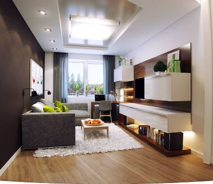 como organizar salas pequeñas muebles dinamicos