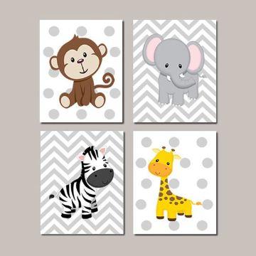 cuadros para niñas pequeñas de animales