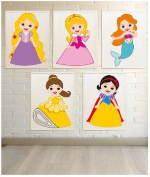 cuadros para niñas pequeñas princesas