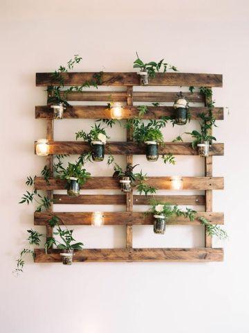 decoracion jardin interior pequeño muros