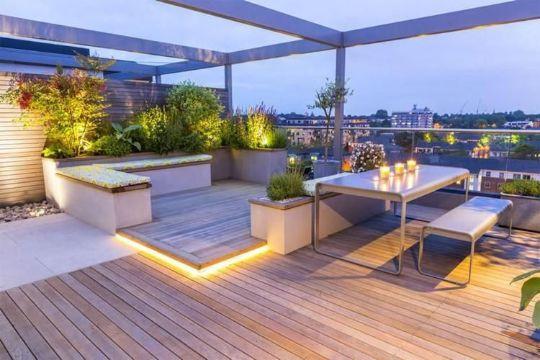 ideas de terrazas economicas pisos de duela