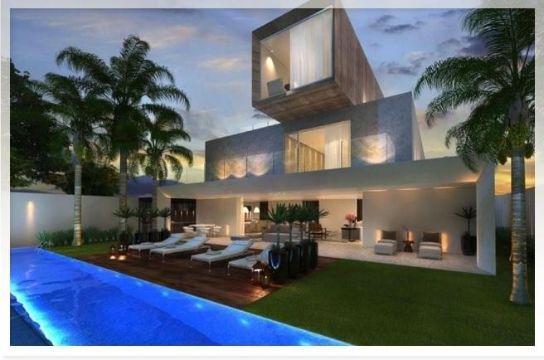 casas con piscina y jardin arquitectura
