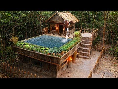 casas con piscina y jardin rusticas
