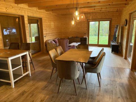 casas de campo de madera interior