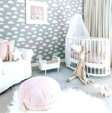 decoracion cuarto de bebe niña ideas para pared