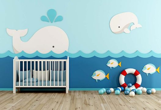 decoracion de cuartos para bebes murales divertidos