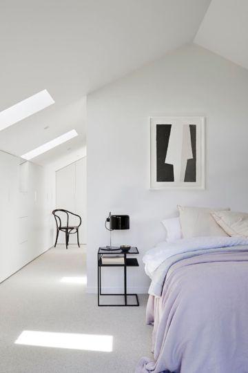 decoracion de dormitorios minimalistas blancas