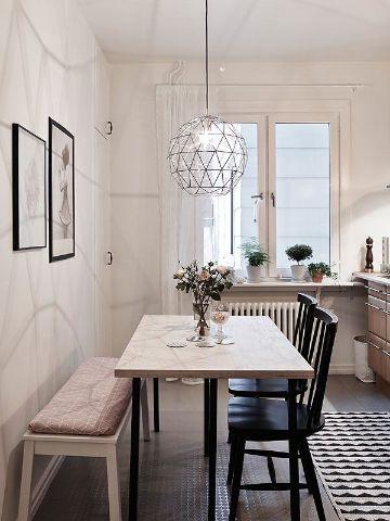 decoracion de sala comedor pequeña muebles