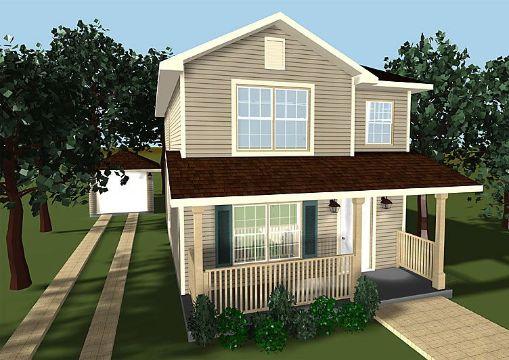 modelos de casas de 2 pisos jardines