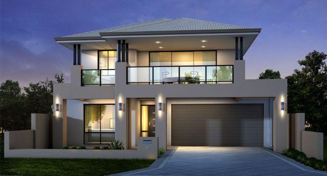 modelos de casas de 2 pisos moderna
