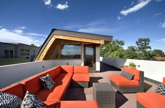 terrazas de diseño moderno con sillones