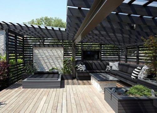 terrazas de diseño moderno pergolas