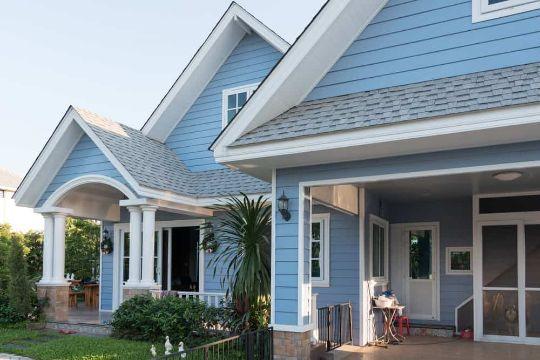 casas azules exterior azul clara