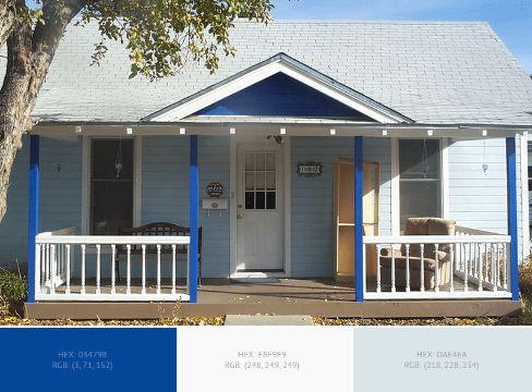 casas azules exterior diferentes gamas