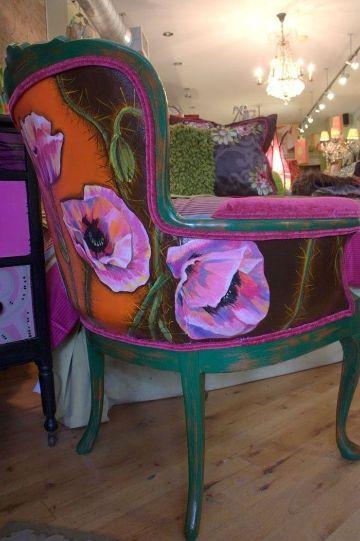 como decorar un sillon viejo artisticos