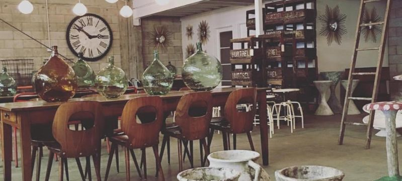 decoracion vintage para cafeteria mobiliario
