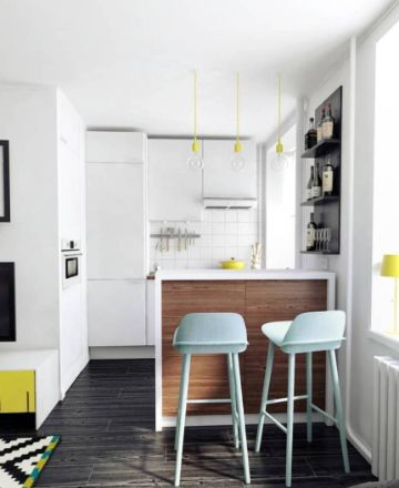 departamentos pequeños modernos cocina