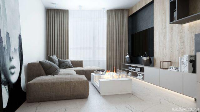 departamentos pequeños modernos salas