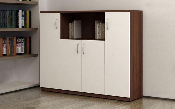 estantes de melamina para oficina con puertas