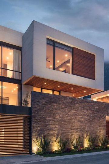 fachadas de casas modernas 2020 con piedra