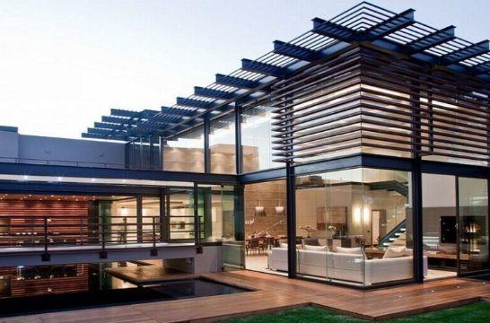 fachadas de casas modernas 2020 metal y cristal
